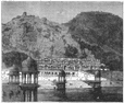 INDIA: View of the Lake of Alwar, antique print, c1880